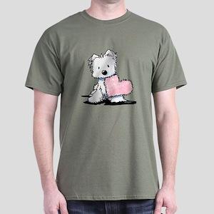 KiniArt Westie Warm Fuzzy Dark T-Shirt