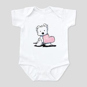 KiniArt Westie Warm Fuzzy Infant Bodysuit