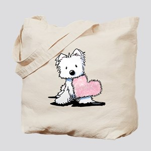 KiniArt Westie Warm Fuzzy Tote Bag