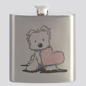 KiniArt Westie Warm Fuzzy Flask