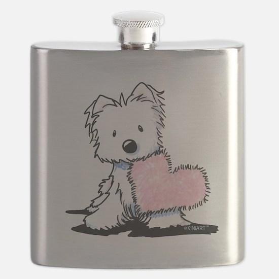 KiniArt Westie Warm Fuzzy Flask
