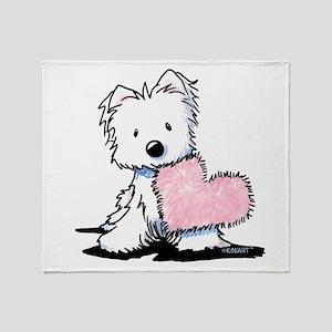 KiniArt Westie Warm Fuzzy Throw Blanket