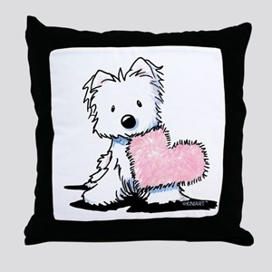 KiniArt Westie Warm Fuzzy Throw Pillow