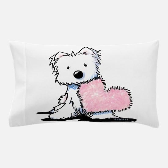 KiniArt Westie Warm Fuzzy Pillow Case