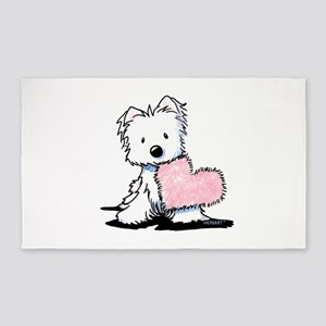 KiniArt Westie Warm Fuzzy Area Rug