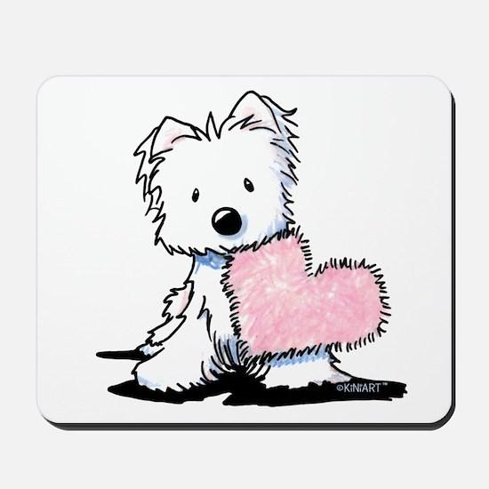 KiniArt Westie Warm Fuzzy Mousepad