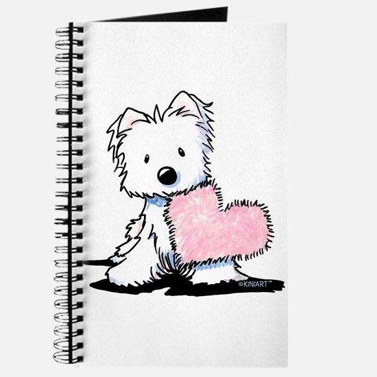 KiniArt Westie Warm Fuzzy Journal