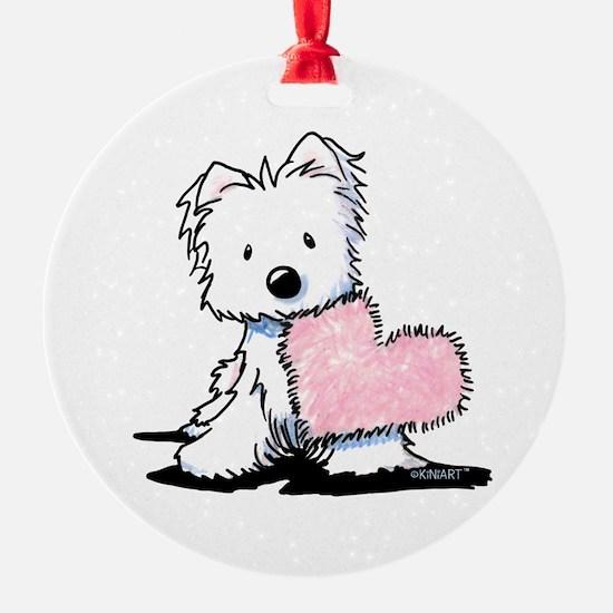 KiniArt Westie Warm Fuzzy Ornament
