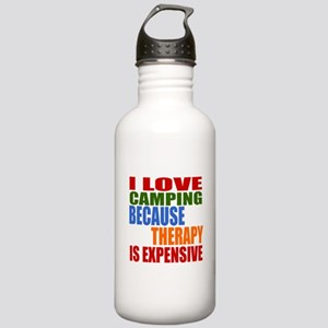 I Love Camping Because Stainless Water Bottle 1.0L