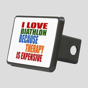 I Love Biathlon Because Th Rectangular Hitch Cover