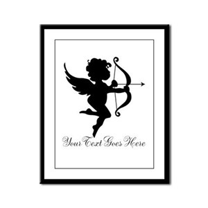 Valentines Day Gifts Cupid Framed Panel Print