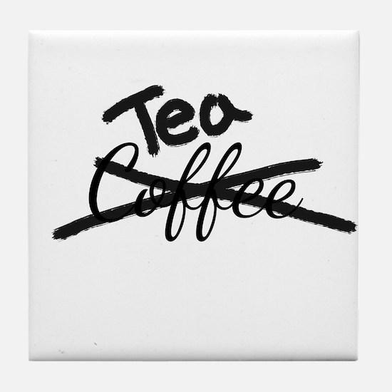 Crossed Out Coffee Tea Tile Coaster