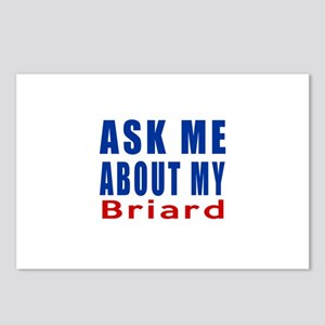 Ask Me About My Briard Do Postcards (Package of 8)