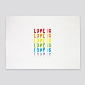 Love is Love. 5'x7'Area Rug