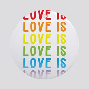 Love is Love. Round Ornament