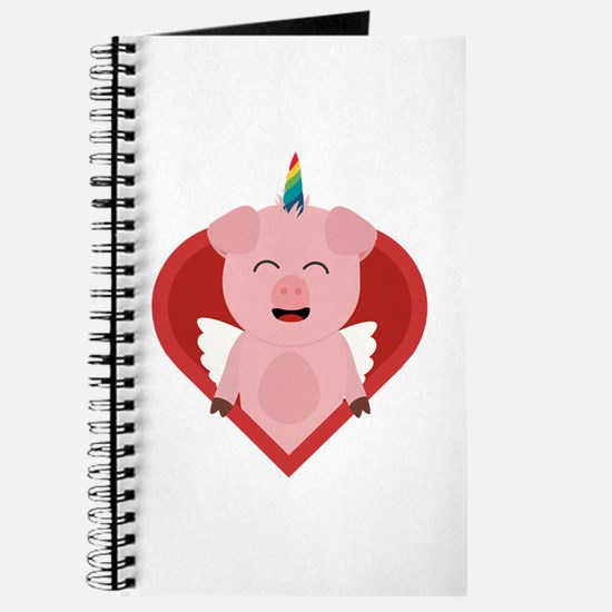 Unicorn Pig with Angelwings Journal