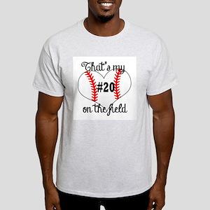 baseball heart on field T-Shirt