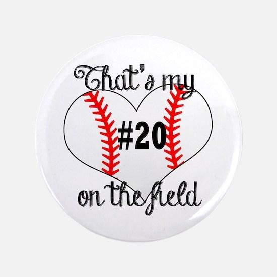baseball heart on field Button