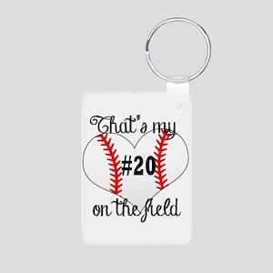 baseball heart on field Keychains