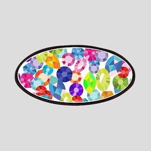 rainbow rhinestones Patch