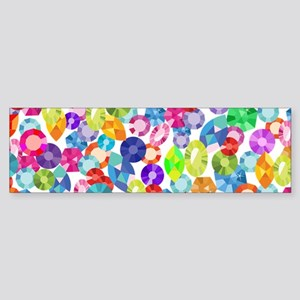 rainbow rhinestones Bumper Sticker