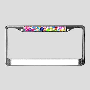 rainbow rhinestones License Plate Frame