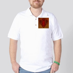 Chinese draon on button in red colors Golf Shirt