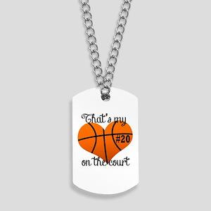 Basketball Heart Dog Tags