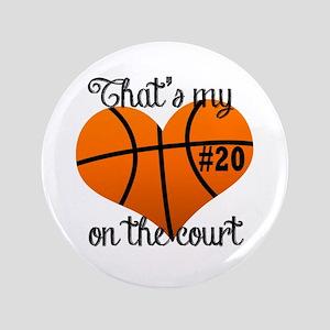 Basketball Heart Button