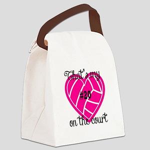 Basketball Heart Canvas Lunch Bag