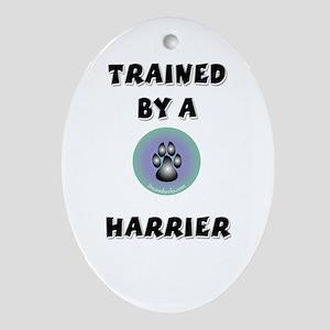 Trained by a Harrier Keepsake (Oval)