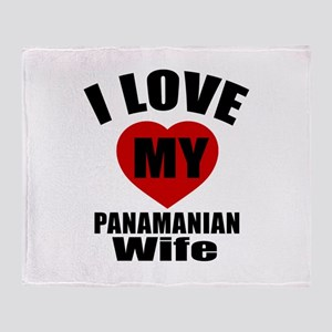 I Love My Panamanian Wife Throw Blanket