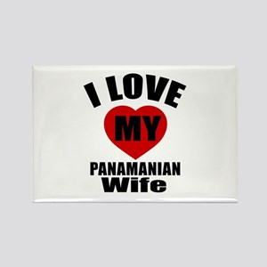 I Love My Panamanian Wife Rectangle Magnet