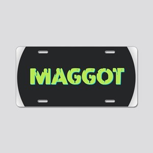 Maggot Aluminum License Plate