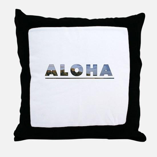 Aloha+Diamond Head Throw Pillow