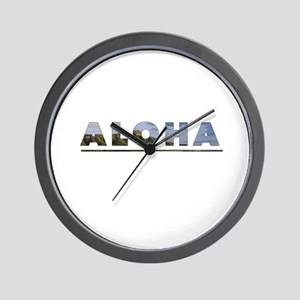 Aloha+Diamond Head Wall Clock