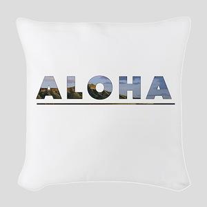 Aloha+Diamond Head Woven Throw Pillow