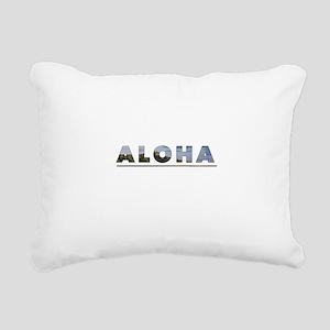Aloha+Diamond Head Rectangular Canvas Pillow