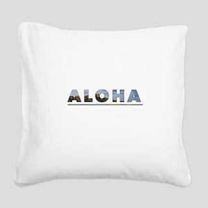 Aloha+Diamond Head Square Canvas Pillow