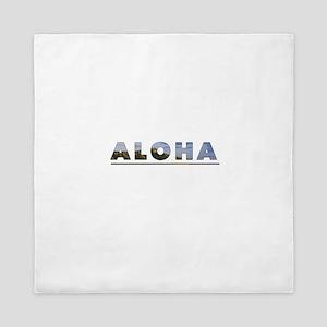 Aloha+Diamond Head Queen Duvet