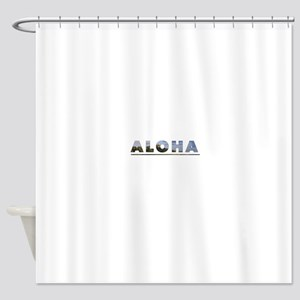 Aloha+Diamond Head Shower Curtain