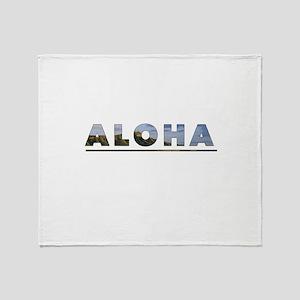 Aloha+Diamond Head Throw Blanket