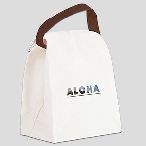 Aloha+Diamond Head Canvas Lunch Bag