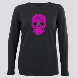 Pink Swirling Sugar Skull T-Shirt
