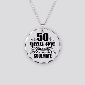 50th Anniversary Necklace Circle Charm