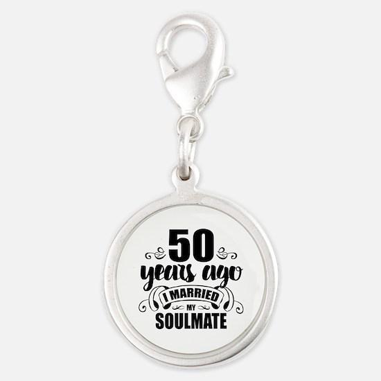 50th Anniversary Silver Round Charm