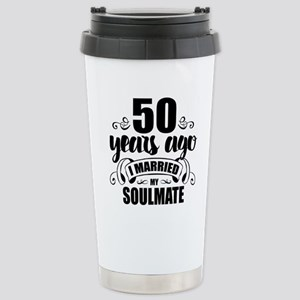 50th Anniversary Stainless Steel Travel Mug