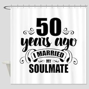 50th Anniversary Shower Curtain