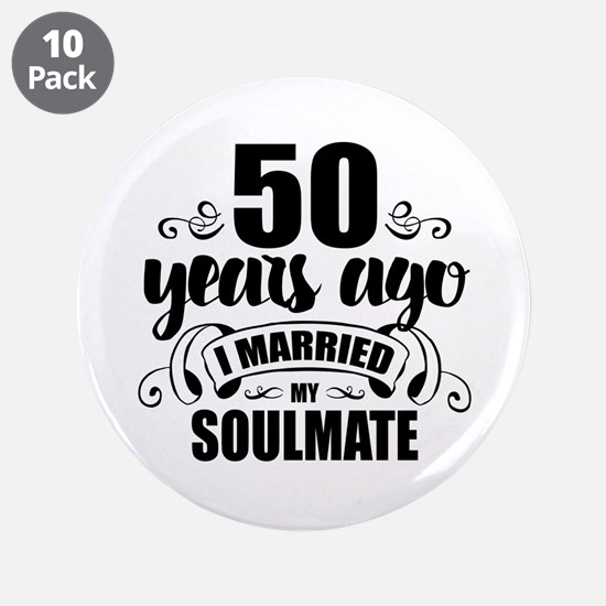 """50th Anniversary 3.5"""" Button (10 pack)"""