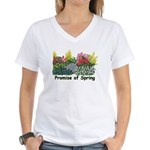 Promise of Spring Women's V-Neck T-Shirt